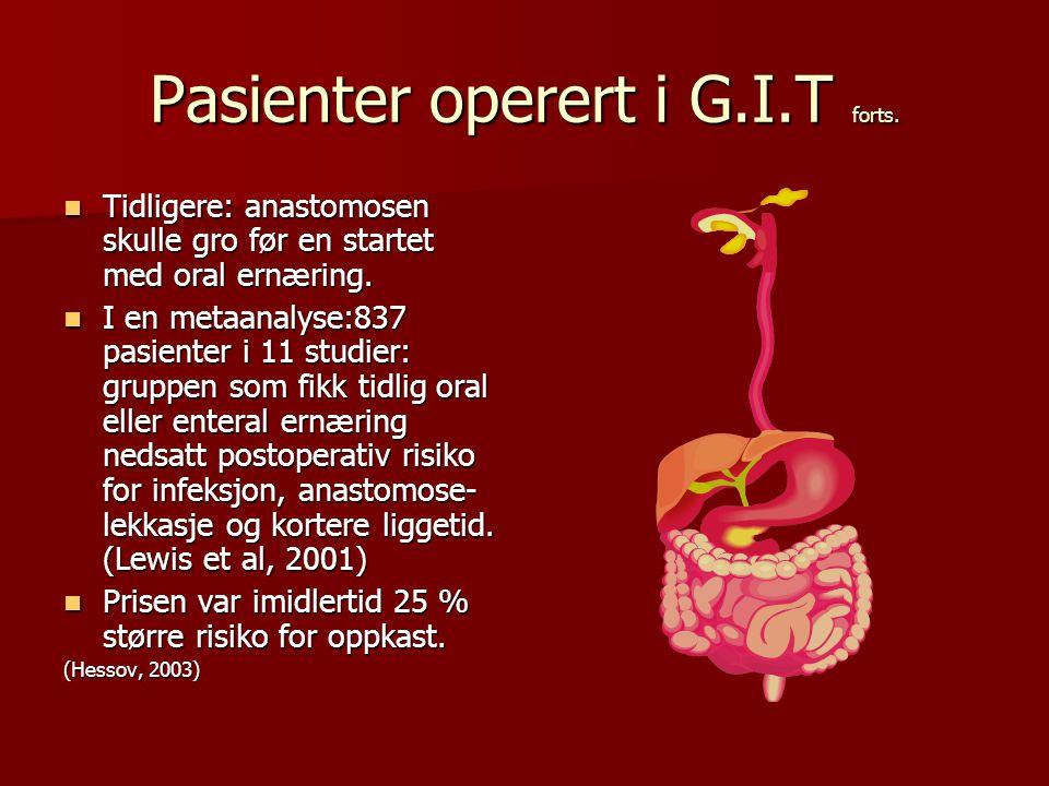 Pasienter operert i G.I.T forts.