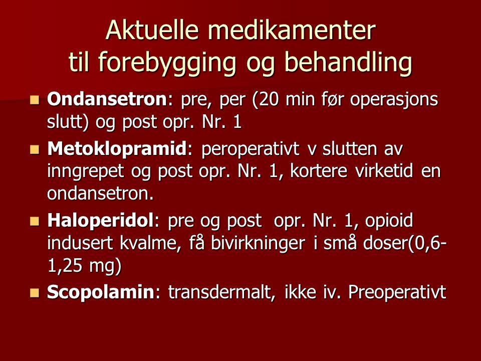 Aktuelle medikamenter til forebygging og behandling