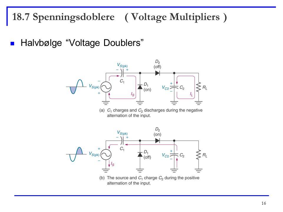 18.7 Spenningsdoblere ( Voltage Multipliers )