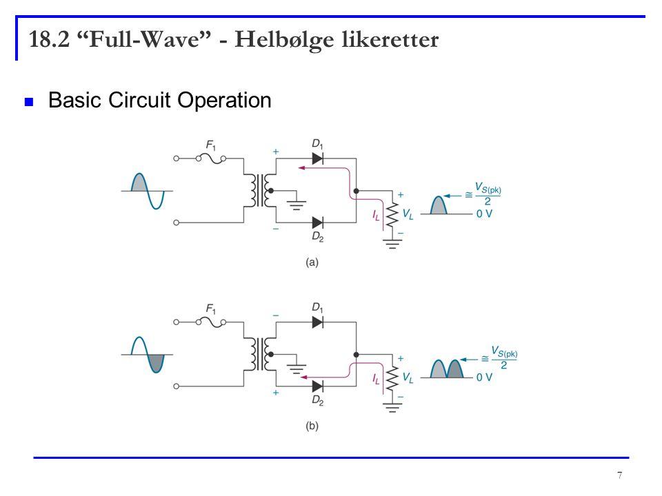 18.2 Full-Wave - Helbølge likeretter