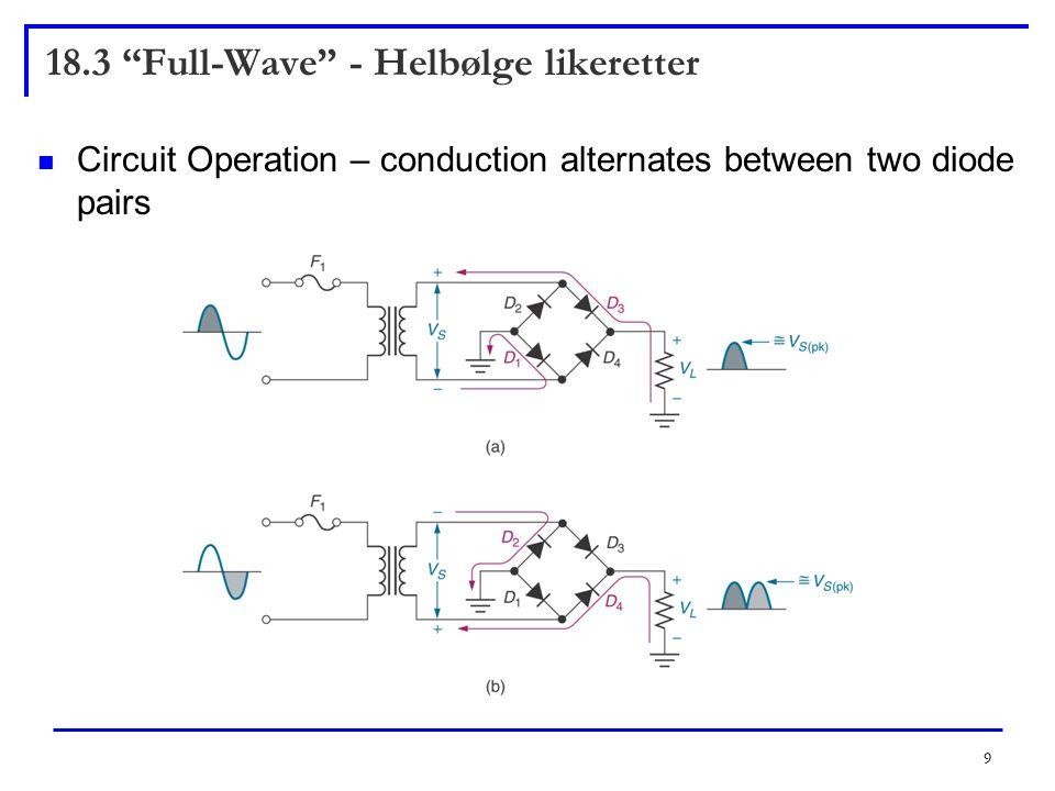 18.3 Full-Wave - Helbølge likeretter