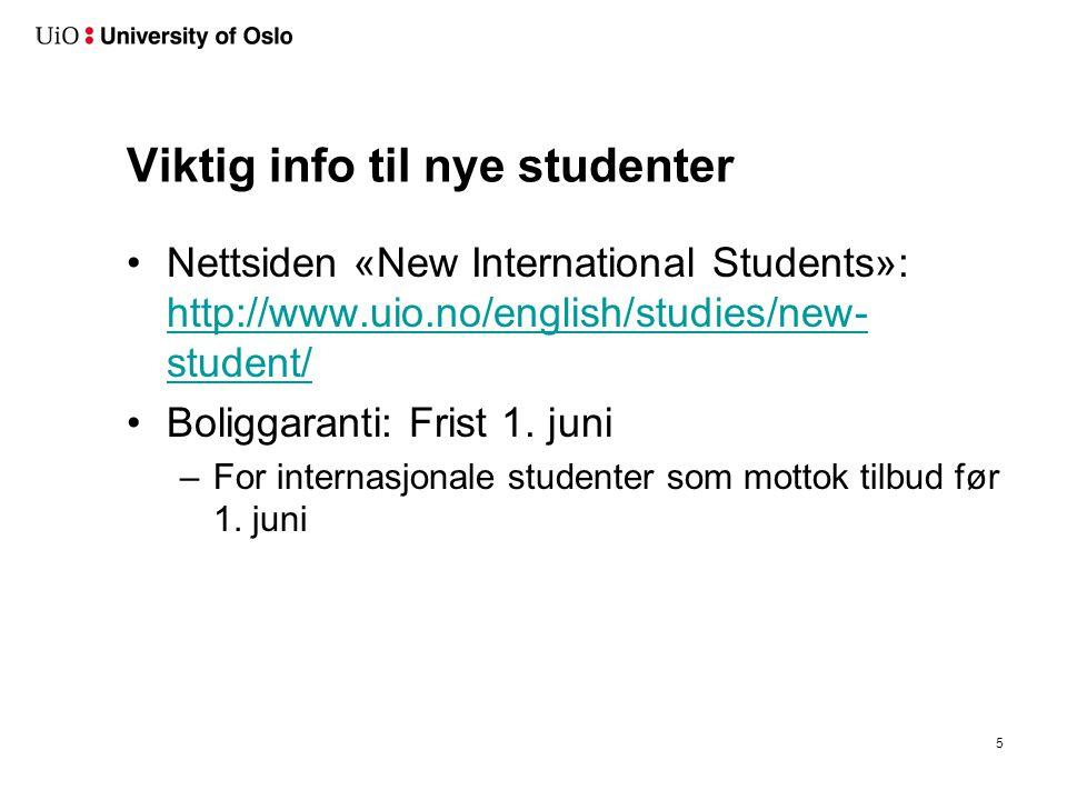 Studentgrupper Helgradsstudenter: - 4-årig bachelorgrad (SFB)
