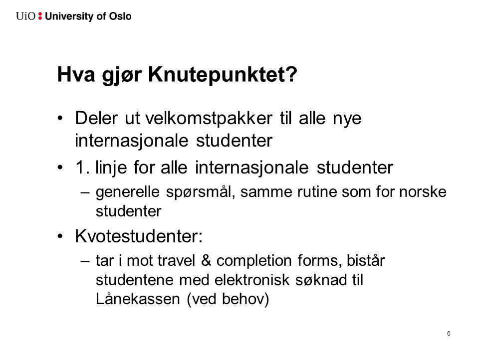 Viktig info til nye studenter