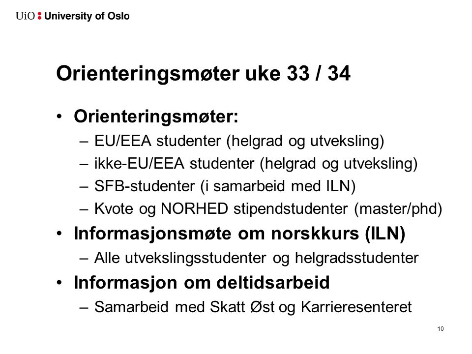 Semesterstart – Orientation Week