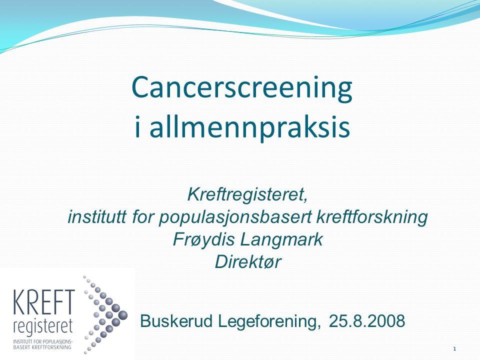 Cancerscreening i allmennpraksis