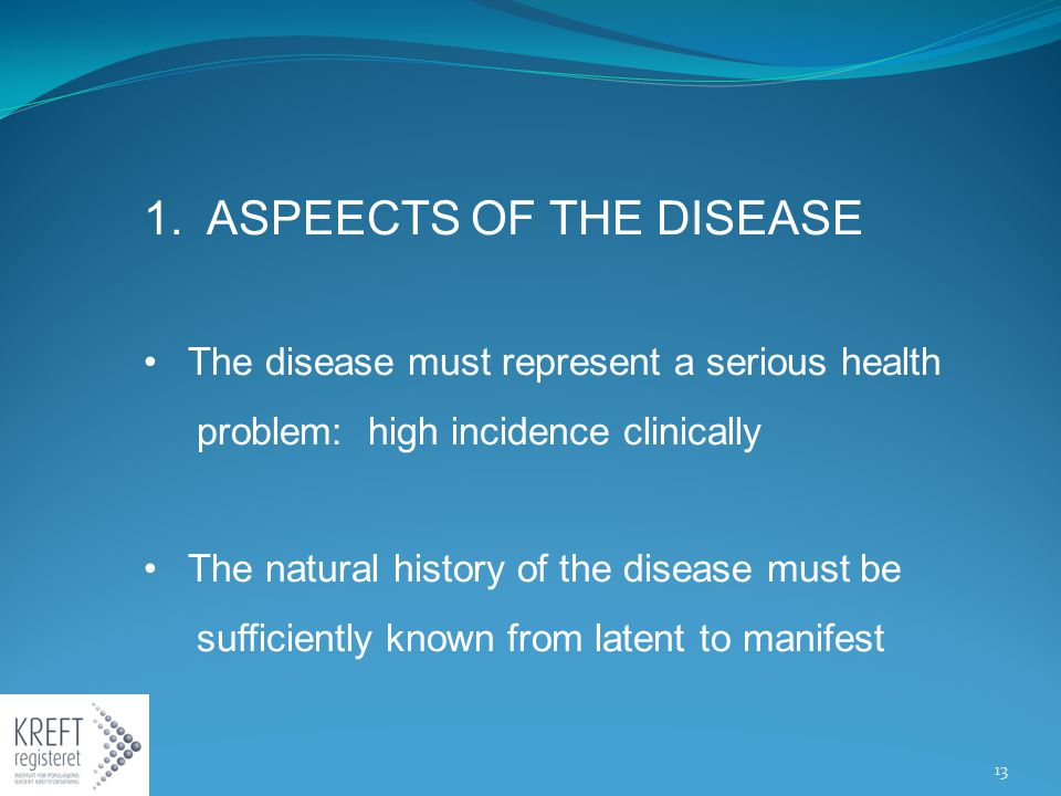 1. ASPEECTS OF THE DISEASE