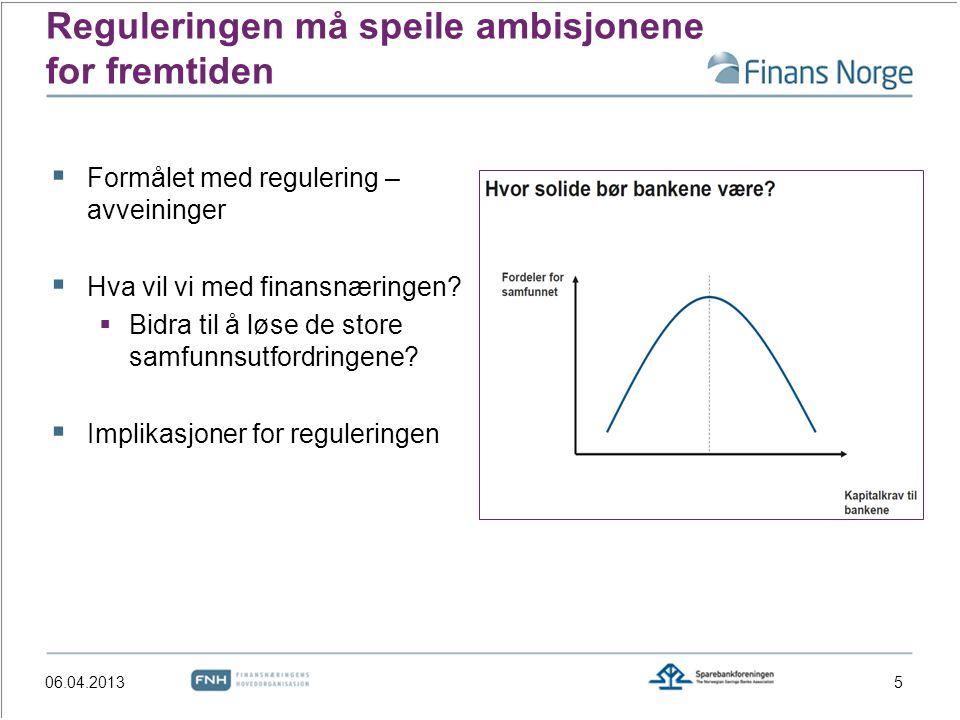 Reguleringen må speile ambisjonene for fremtiden