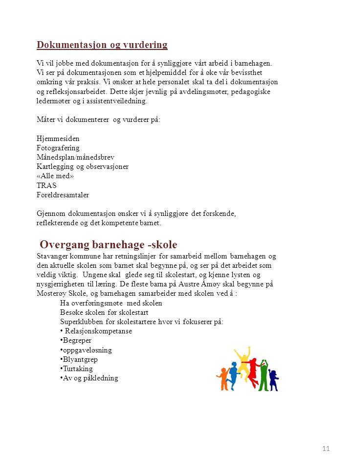 Overgang barnehage -skole