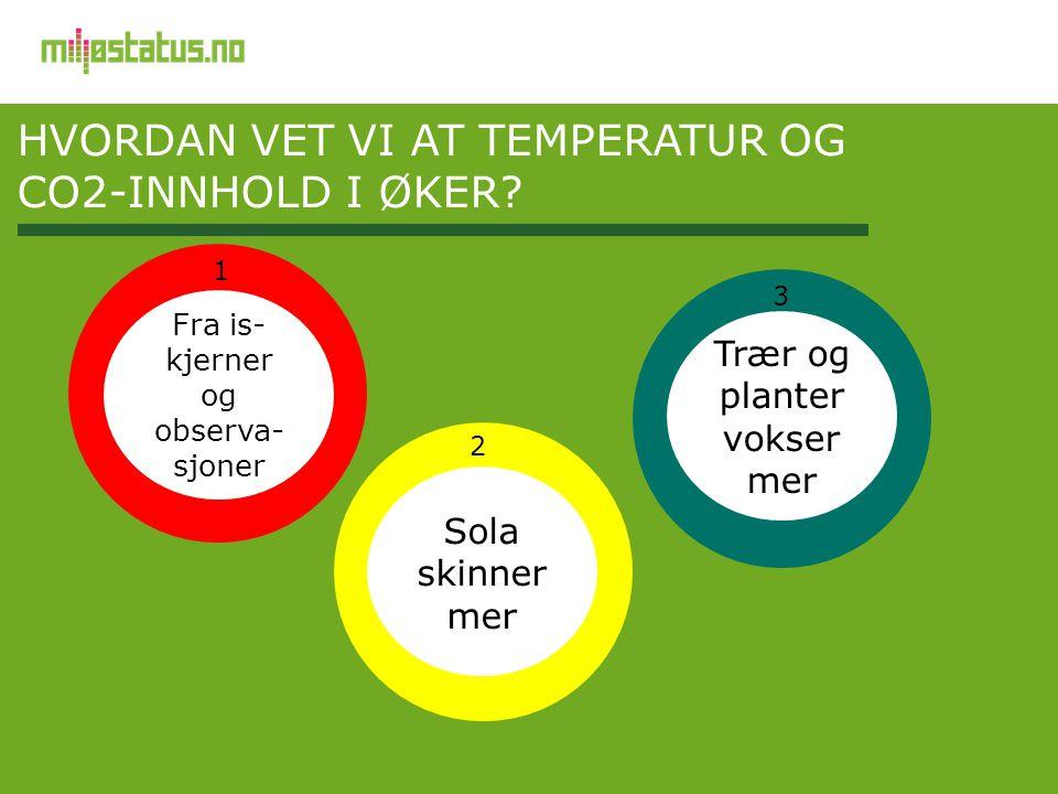 Hvordan vet vi at temperatur og CO2-innhold i øker