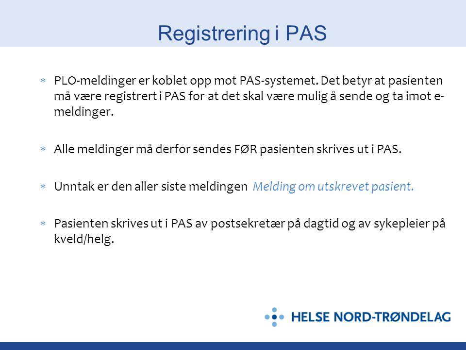 Registrering i PAS