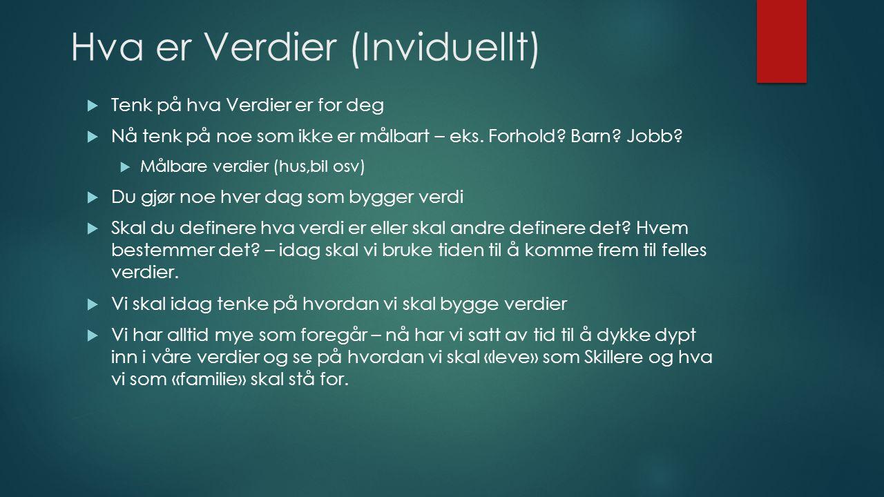 Hva er Verdier (Inviduellt)