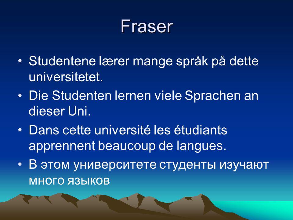 Fraser Studentene lærer mange språk på dette universitetet.