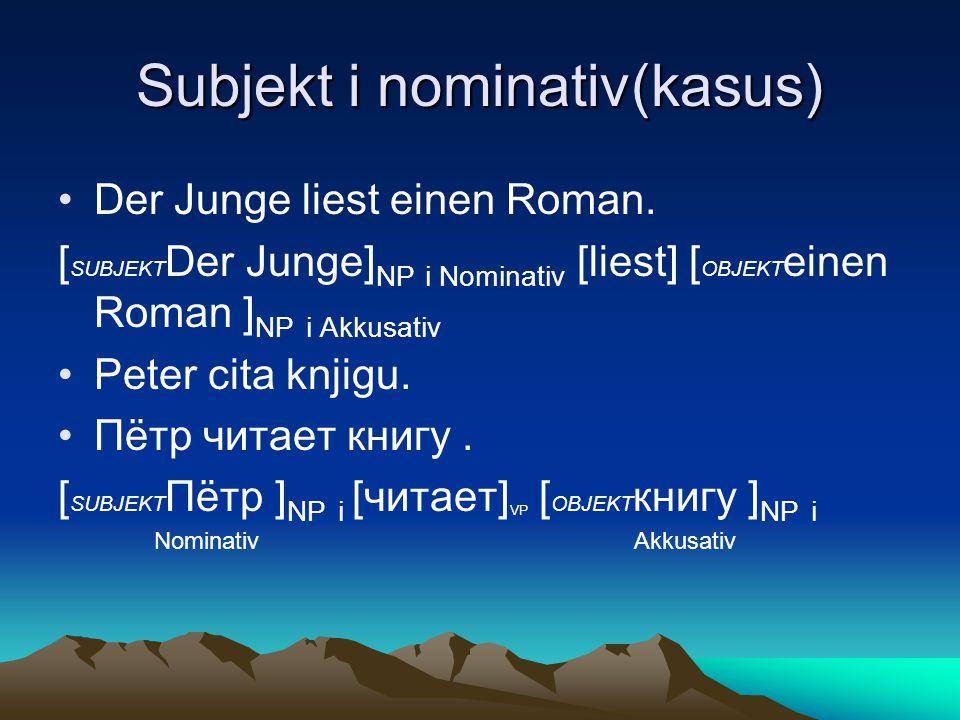 Subjekt i nominativ(kasus)