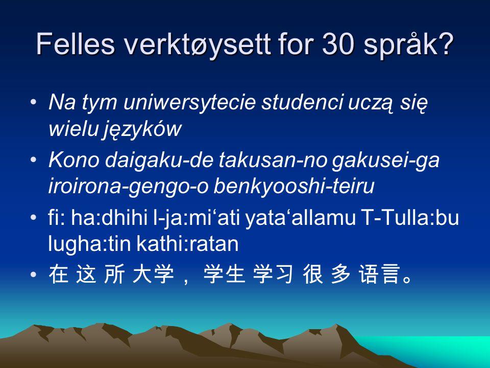 Felles verktøysett for 30 språk