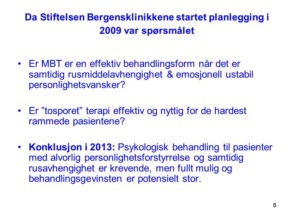 Da Stiftelsen Bergensklinikkene startet planlegging i 2009 var spørsmålet