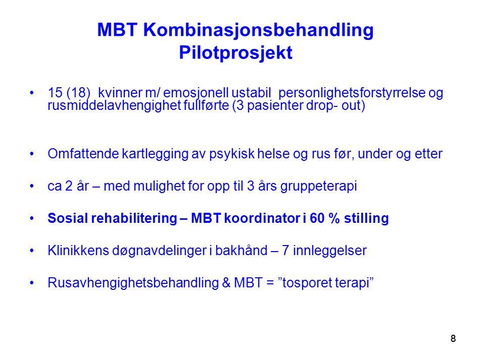 MBT Kombinasjonsbehandling Pilotprosjekt