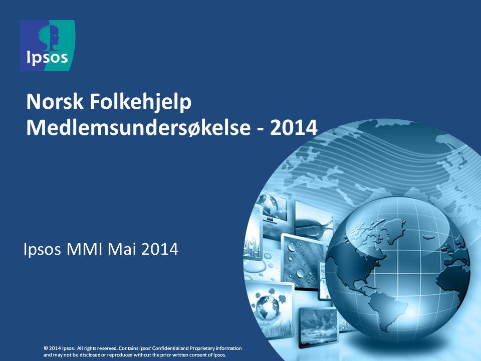 Norsk Folkehjelp Medlemsundersøkelse - 2014