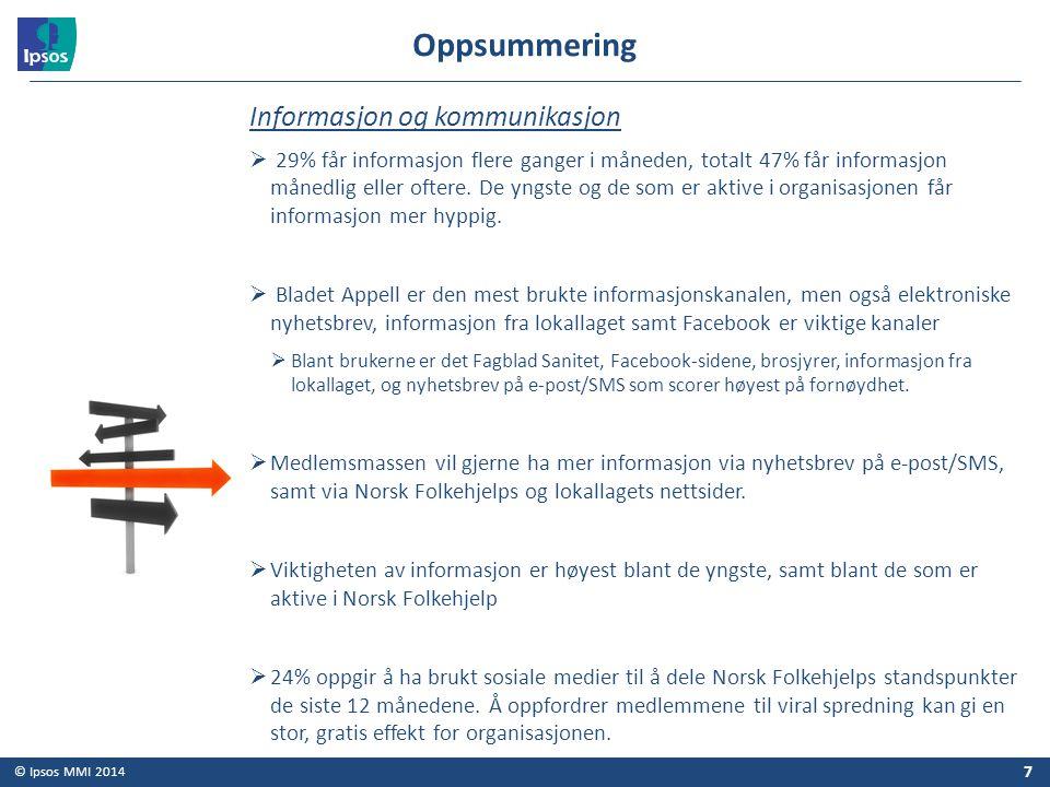Oppsummering Informasjon og kommunikasjon