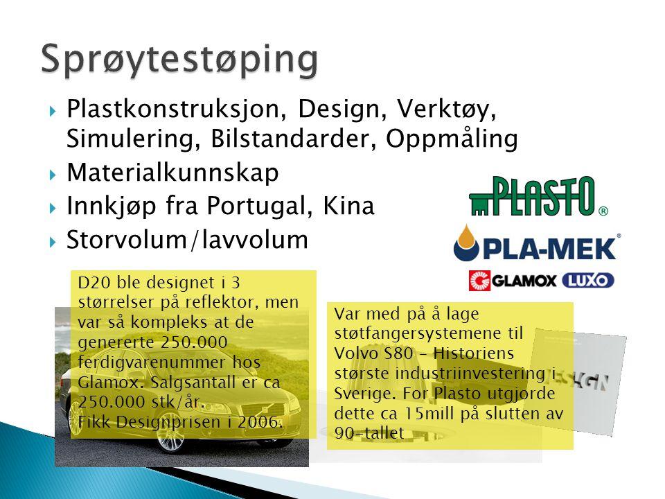 Sprøytestøping Plastkonstruksjon, Design, Verktøy, Simulering, Bilstandarder, Oppmåling. Materialkunnskap.