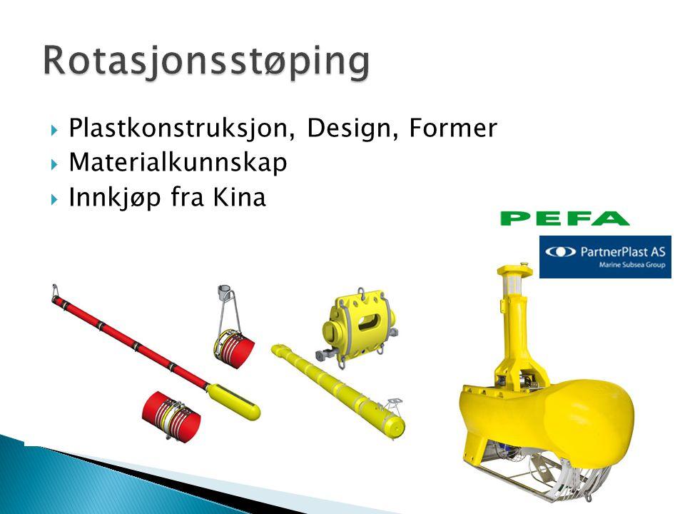 Rotasjonsstøping Plastkonstruksjon, Design, Former Materialkunnskap