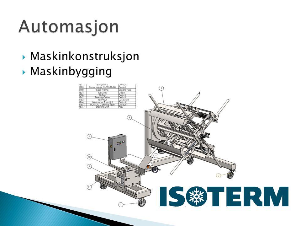 Automasjon Maskinkonstruksjon Maskinbygging