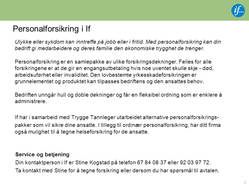 Personalforsikring i If