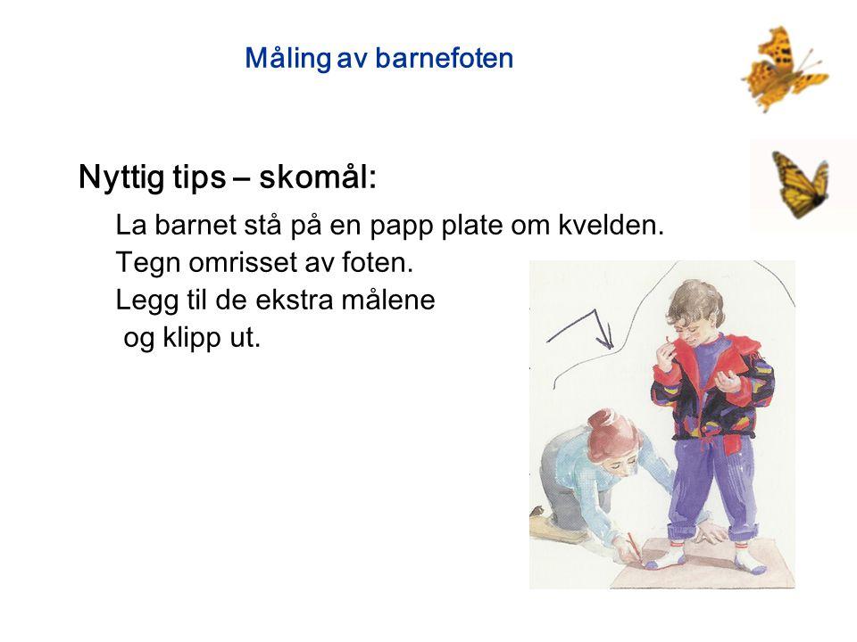 Nyttig tips – skomål: Måling av barnefoten