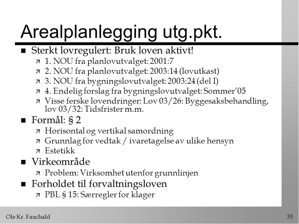 Arealplanlegging utg.pkt.