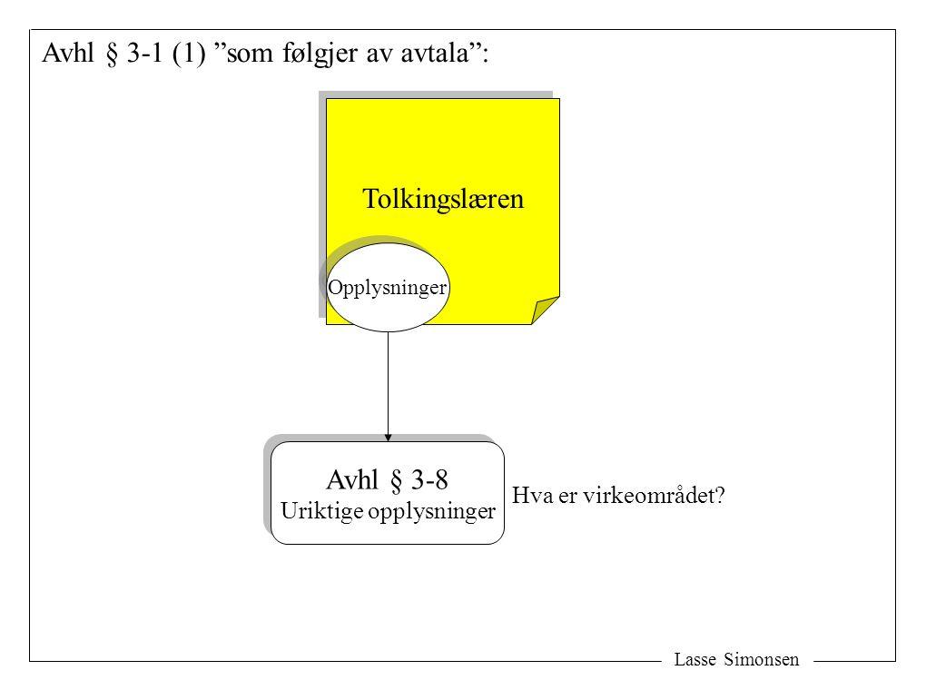 Avhl § 3-1 (1) som følgjer av avtala :