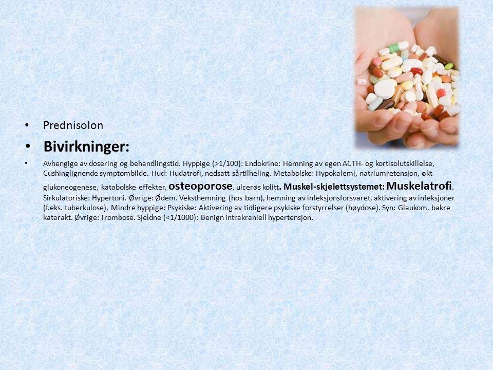 Bivirkninger: Prednisolon