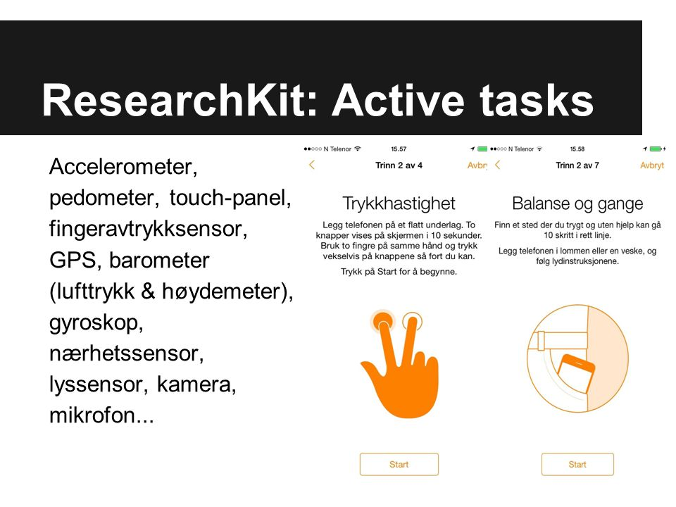 ResearchKit: Active tasks