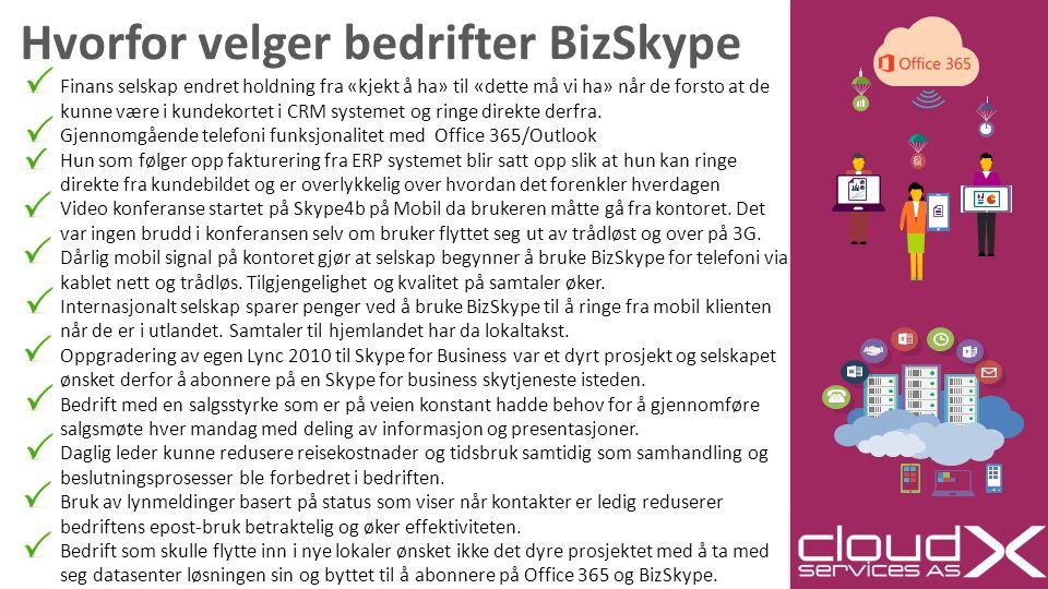 Hvorfor velger bedrifter BizSkype