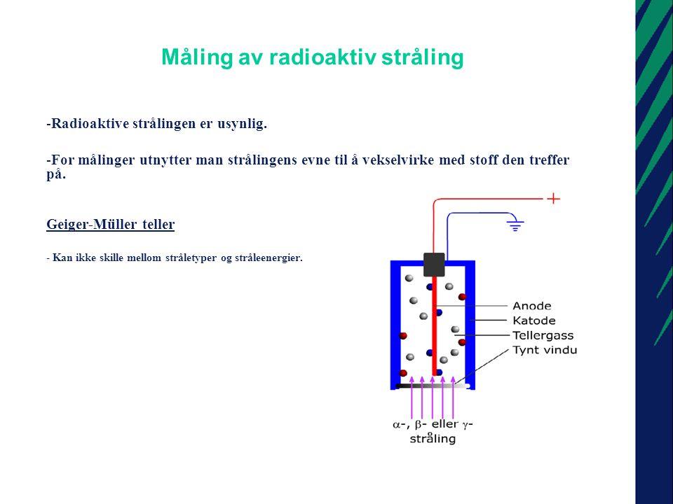 Måling av radioaktiv stråling