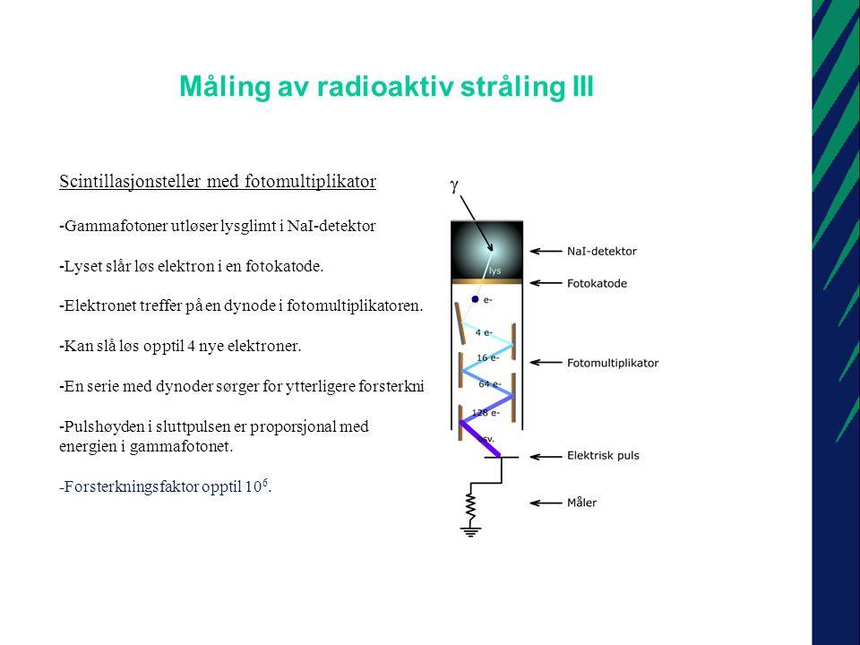 Måling av radioaktiv stråling III