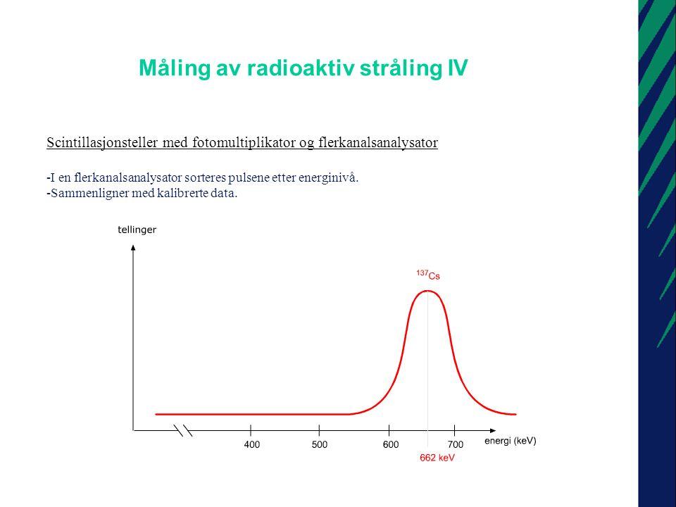 Måling av radioaktiv stråling IV