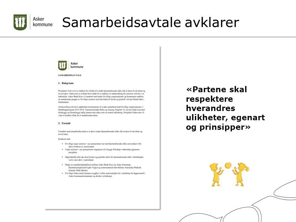 Samarbeidsavtale avklarer