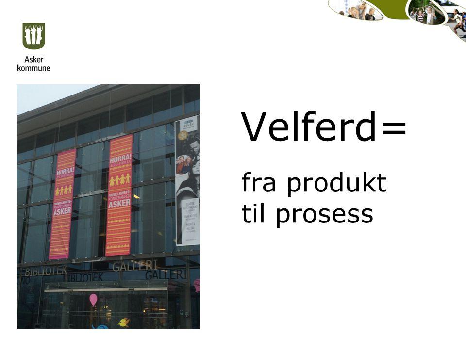 Velferd= fra produkt til prosess