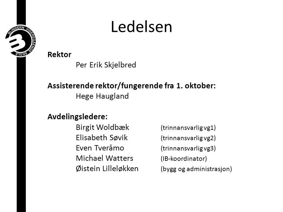 Ledelsen Rektor Per Erik Skjelbred