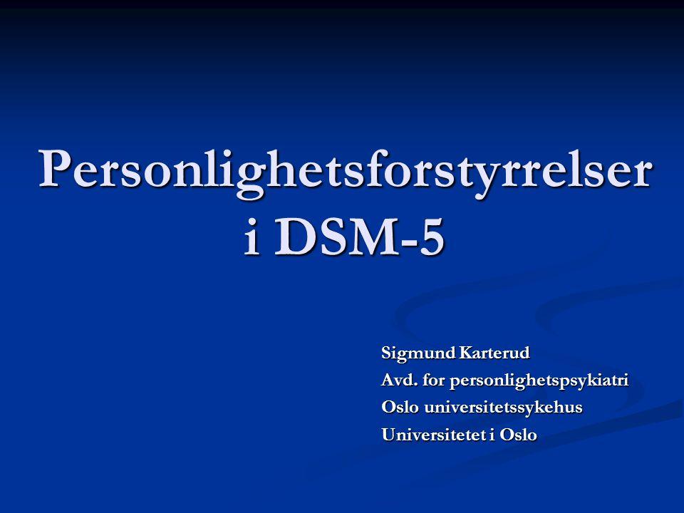 Personlighetsforstyrrelser i DSM-5
