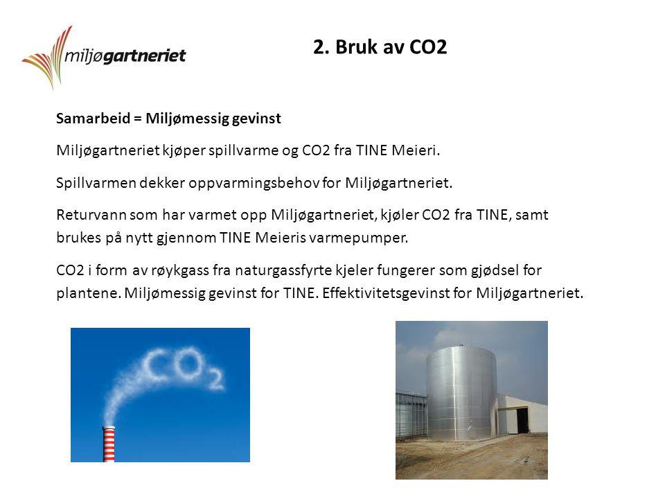 2. Bruk av CO2 Samarbeid = Miljømessig gevinst