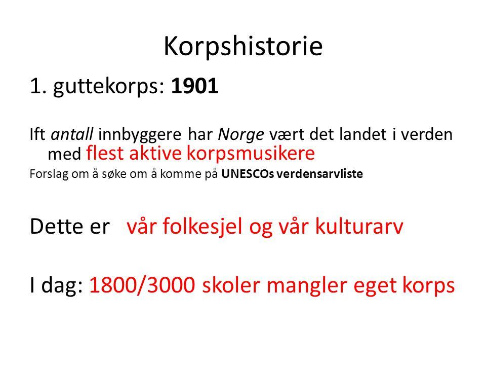 Korpshistorie 1. guttekorps: 1901