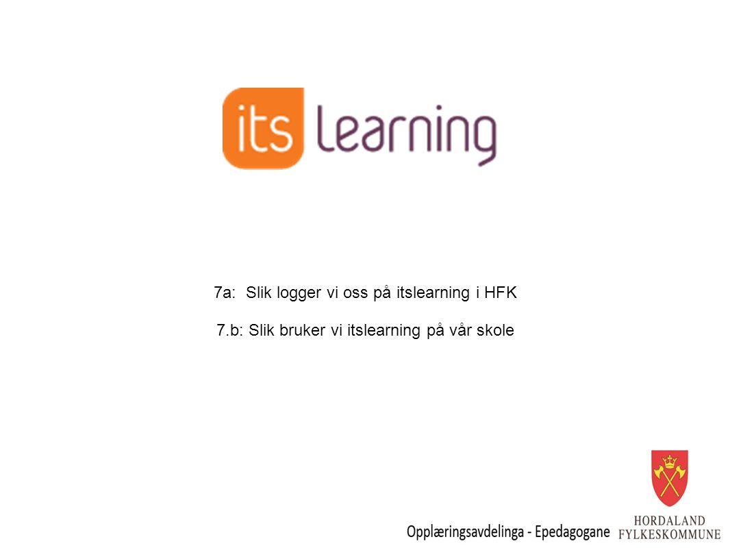 7a: Slik logger vi oss på itslearning i HFK