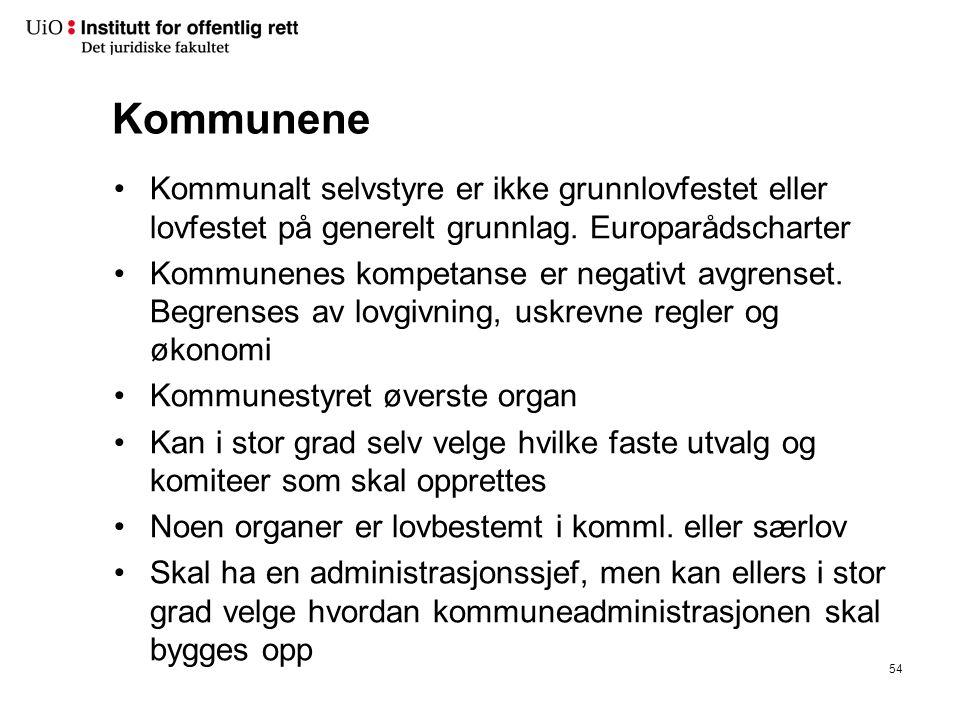 KOMMUNAL- FORVALTNINGEN. tradisjonelt. Kommune-styret. FS. Faste utvalg. og komiteer. x. Administ-rasjonen.