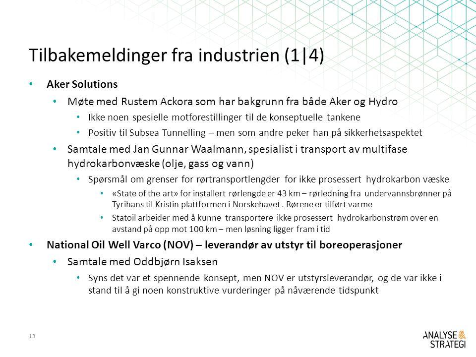 Tilbakemeldinger fra industrien (1|4)