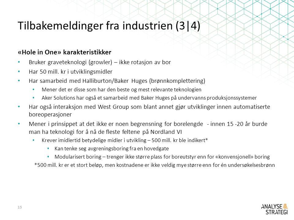 Tilbakemeldinger fra industrien (3|4)