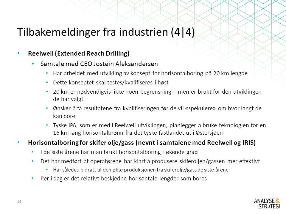Tilbakemeldinger fra industrien (4|4)