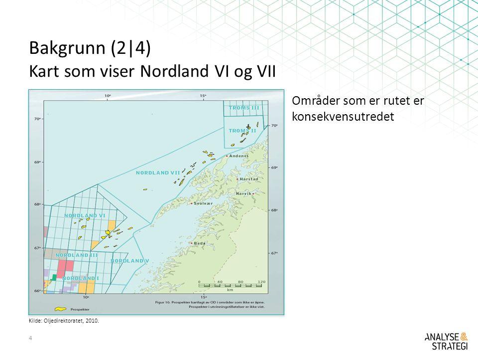 Bakgrunn (2|4) Kart som viser Nordland VI og VII