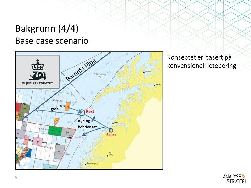 Bakgrunn (4/4) Base case scenario