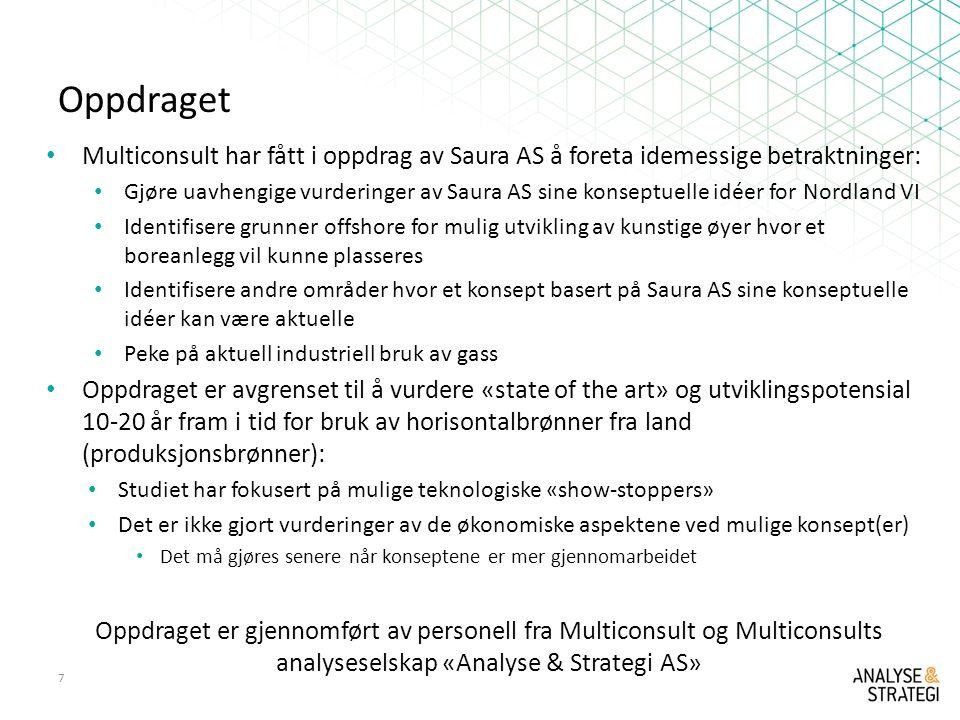 Oppdraget Multiconsult har fått i oppdrag av Saura AS å foreta idemessige betraktninger: