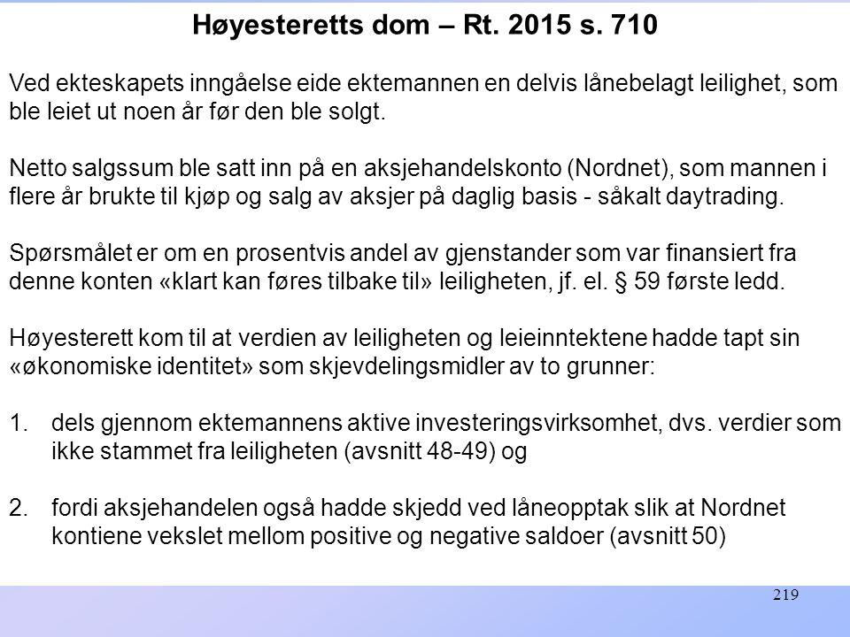 Høyesteretts dom – Rt. 2015 s. 710
